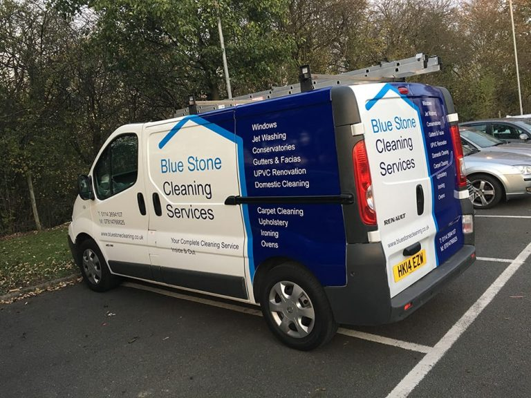 Blue-Stone-Cleaning-Van-Graphics