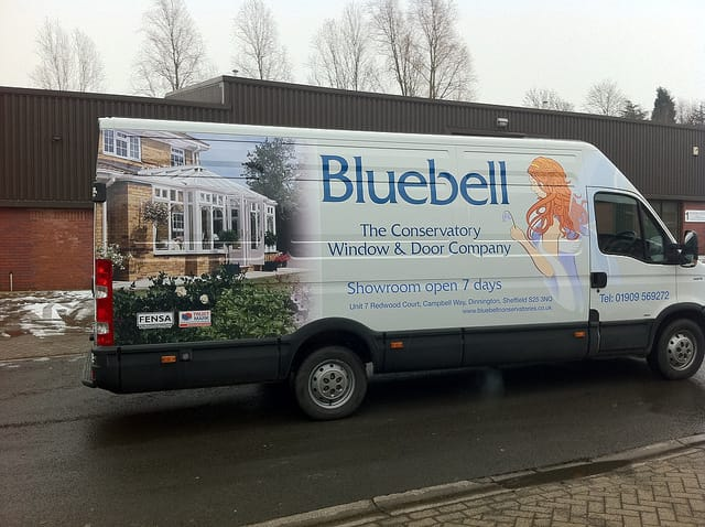 Bluebell-Conservatory-window-and-door-company-Van-Graphics