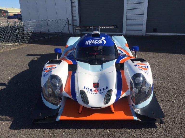 Gulf-liveried-Ligier-JS-P3-Car-Wrap-Leeds