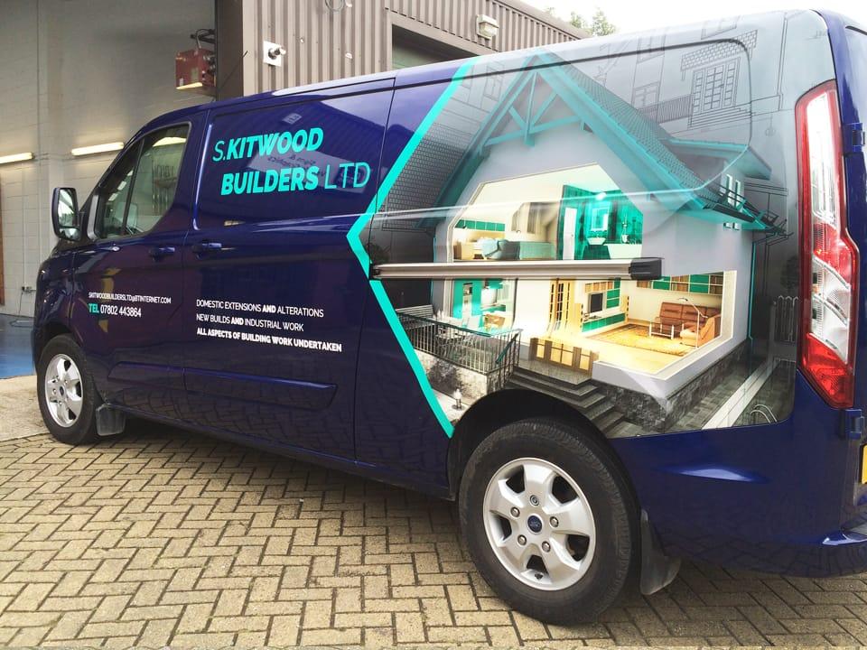 Kitwood-Builders-Blue-Transit-Custom-Van-Graphics