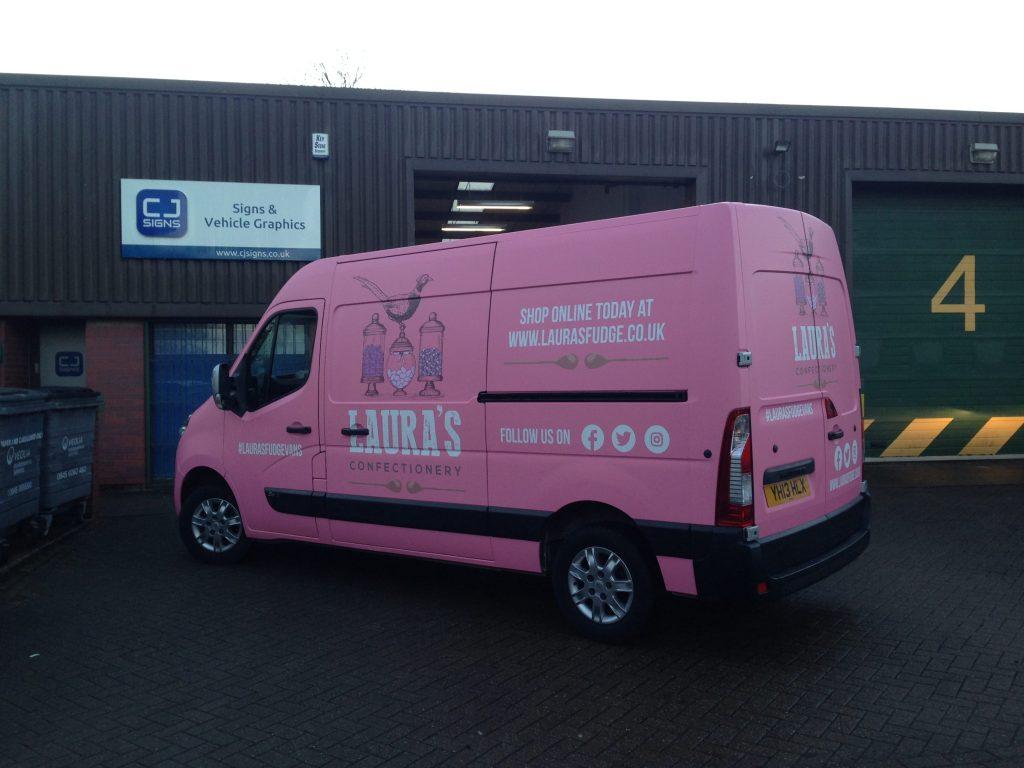 Lauras-Fudge-Full-Van-Wrapping