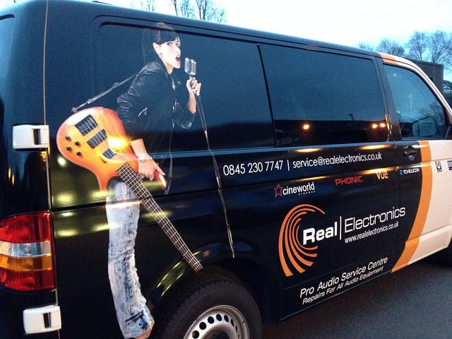 Real-Electronics-van-wrapping