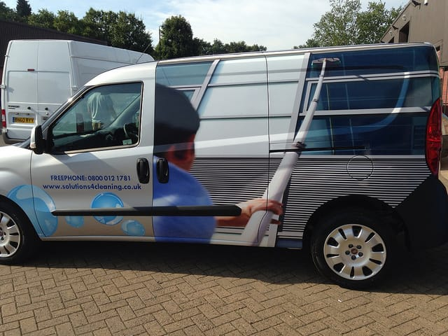 Solutions-4-Cleaning-van-wrapping