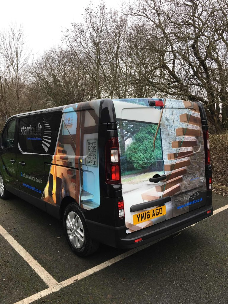 Staircraft-Van-Graphics-Wrapping